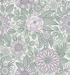 Picturesque seamless pattern in soft colors