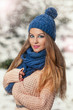 pretty young woman in a winter fashion shot