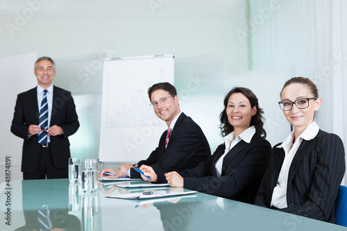 Business team holding a meeting
