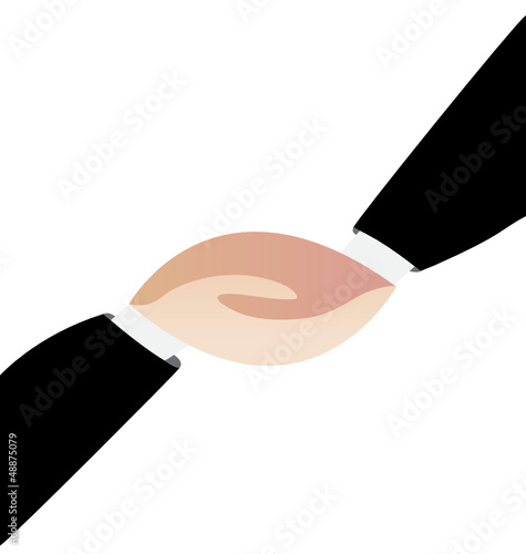 Friendly handshaking vector