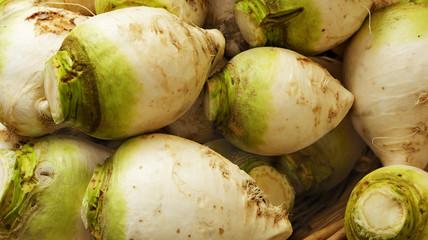 Green and white turnips