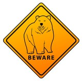Bear Beware Sign