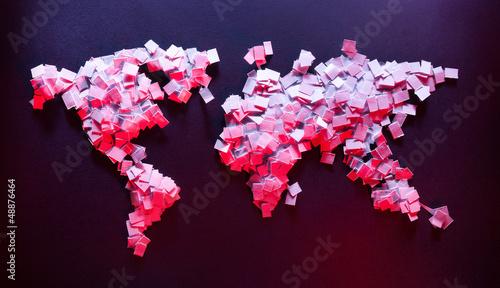Staande foto Wereldkaart Earth of papers