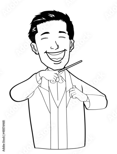 orchestra leader Vector Illustration