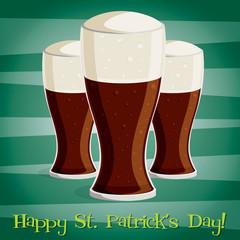 """Happy Saint Patrick's Day"" beer card in vector format."