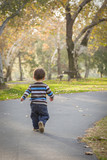 Young Baby Boy Walking in the Park