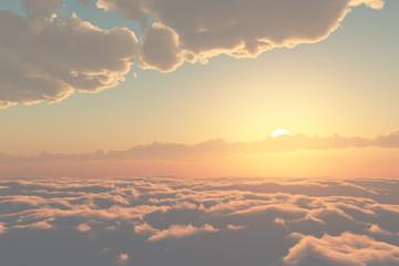 雲の上・夕暮れ