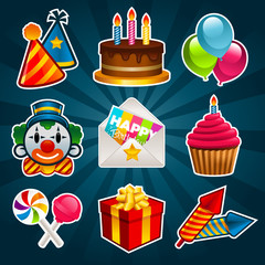 Happy Birthday Party Icons