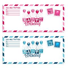 Birthday Party Invitation Envelope
