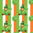 seamless pattern on patrick day