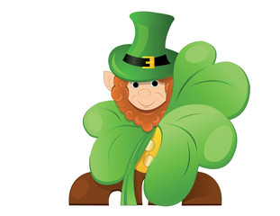 leprechaun  or gnome  on patrick day