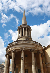 The Church of All Souls Langham Place in London, England.