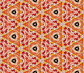 Seamlessly tiled kaleidoscopic mosaic pattern
