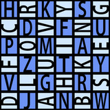 Squared letters seamless pattern.