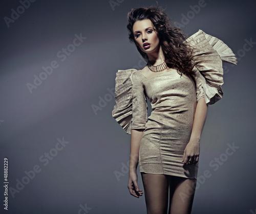 Young woman in beautiful dress - 48882229