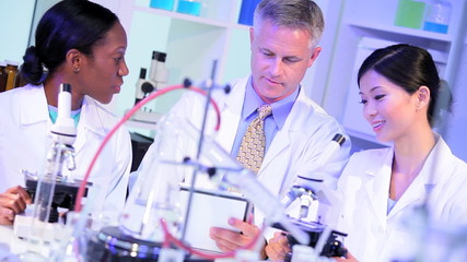 Laboratory Technicians Checking Research Results