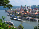 Passau, City of Three Rivers, Bavaria, Germany.