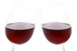 Anstoßen mit Rotwein