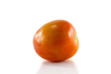 Ripe tomatoes isolated on white background