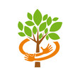 Logo Safe Organic farming, Greengrocer # Vector