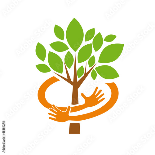 Logo Safe Organic farming, Greengrocer # Vector