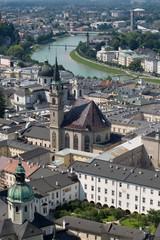 Salzburg view in summer