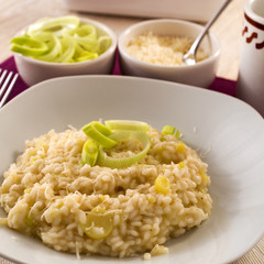 Rice with leek