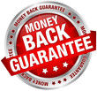 "Button Banner ""Money Back Guarantee"" Red/Silver"