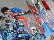 Fototapete Beton - Wut - Graffiti
