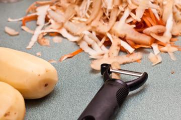 Vegetable peelings