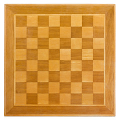 Wooden Chessboard from Above