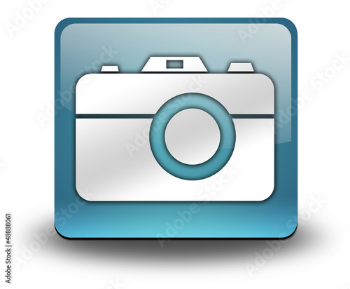 "Light Blue 3D Effect Icon ""Camera"""