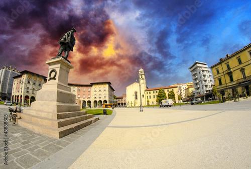 Central Square in Pisa, Fisheye view