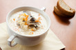 Mushroom soup with cream