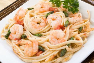 Shrimp Scampi with Asparagus