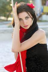 Portrait of seductive young woman