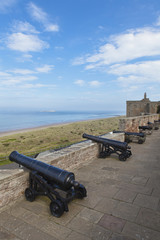 Canons at Bamburgh Castle, Northumberland