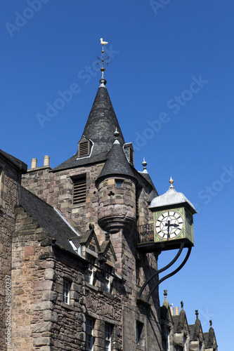 Canongate tolbooth clock, Edinburgh. Scotland.