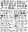 Big set doodle business icons