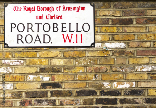 Portobello Road Sign in Notting Hill