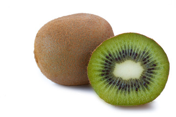 Kiwi on white background_III
