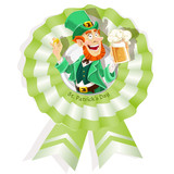 Rosette on St. Patrick's Day with Leprechaun with beer