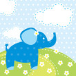 vector background with elephant