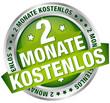 """Button Banner """"2 Monate kostenlos"""" grün/silber"""