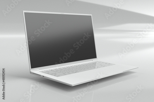 one white ultrabook (leptop)