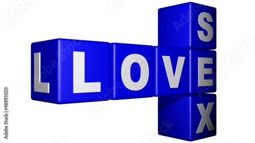 Love Sex blue cubes