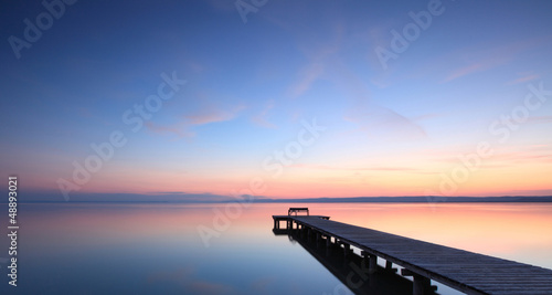 canvas print picture Stille am See