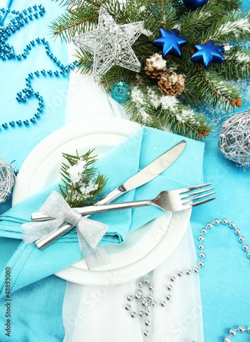 beautiful christmas setting, close up