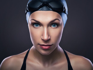 swimmer in dark grey color