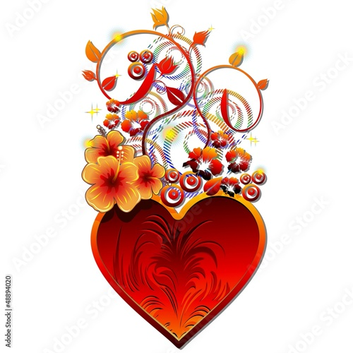 Be my Valentine Fire Heart Love-Cuore di Fuoco e Amore-Vector